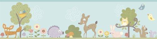 RoomMates RMK1420BCS Woodland Animals Peel & Stick Wall (Christmas Kids Borders)