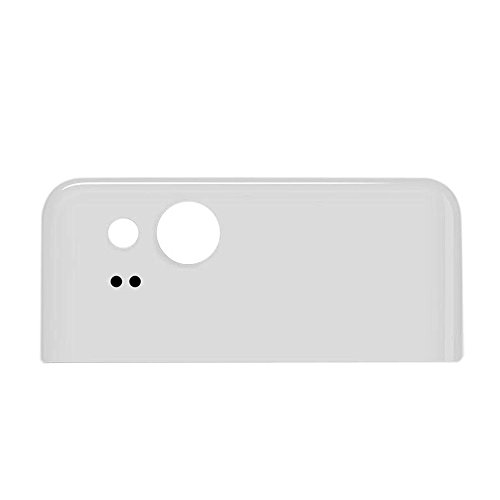 Dogxiong White Back Rear Battery Housing Top Upper Part Really 100% True Genuine Glass Camera Lens Cover + Adhesive Fix Replacement Parts for for Google Pixel 2, Pixel2