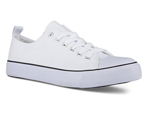 Twisted Womens Hunter Lo-Top Stylish Canvas Sneakers White