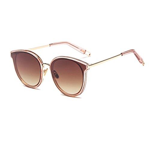 HAIYING Taiyangjing Pink Shades Star UV De Color Gafas De Unisex Estilo Sol Polarizadas Gafas Protección Sol Marrón 100 Star 11dHwRx
