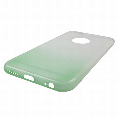 Pour iphone 6 6s (4.7inch) Coque Etui, LEMORRY Ultra TPU Silicone Caoutchouc Transparent [Absorption des chocs] Style Slim Soft Housse Case Crystal Bumper Protecteur Back Rear Gradient Green