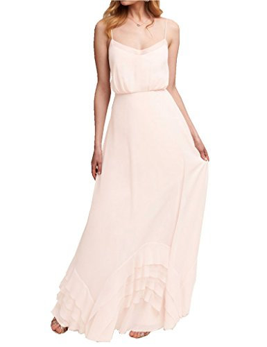 Bridal Spaghetti Strap Bridesmaid Dress - 1