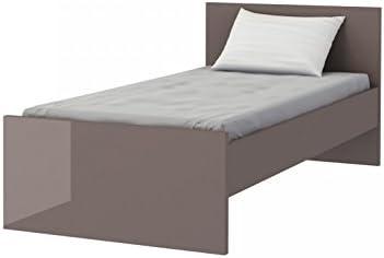 160//200 cm, Wei/ß//Wei/ß Hochglanz Furniture24 Bett Bettgestelle HEKTOR Hochglanz