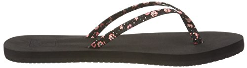 Para Chanclas Bkf Reef black Mujer Prints Bliss Multicolor floral x7qqfBvw