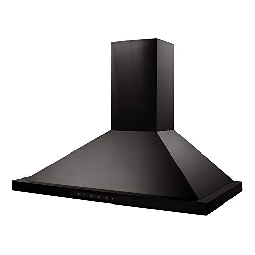 ZLINE 36 in. 760 CFM Wall Mount Range Hood in Black Stainless Steel (BSKBN-36)