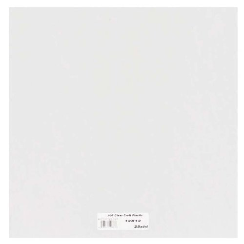 Grafix Clear Craft Plastic .007 Thickness 12-Inch by 12-Inch, Pack of (Stencil Film)