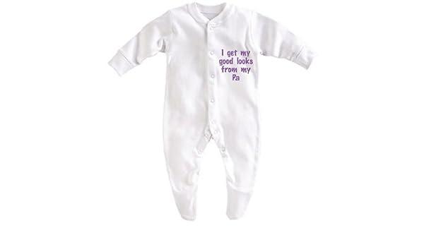 Obtengo mis buenos looks de mi pa blanco blanco Talla:Boy 0-3 Months: Amazon.es: Bebé