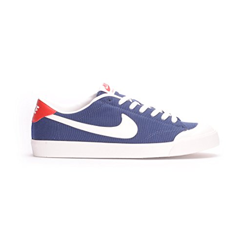 Nike Zoom All Court CK- Scarpe da skateboarding da uomo, Blu (Midnight Navy / Summit White), 44 1/2 EU