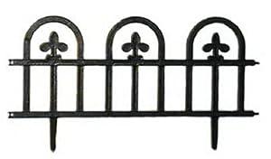 Suncast Estate Fence, Black