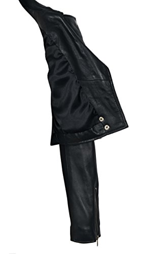 Missy dames ont adapté court Noir de mode Goth Biker souple Napa Leather Jacket KYLIE