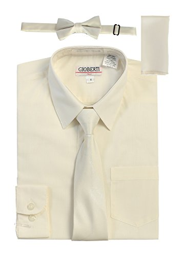 ivory dress shirt and tie - 6