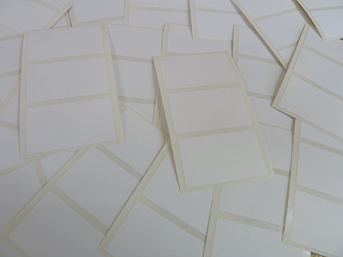 Pack of 69 , 43x25mm (1.7 x 1 inch) Rectangles , White Paper Labels , Removable Low Tack Adhesive Rectangles, Easy to Remove , Plain Stickers (Removable Rectangle Labels)