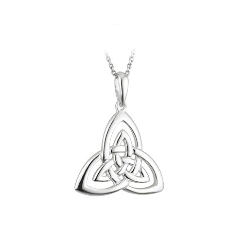 Trinity Knot Meaning (Open Trinity Knot Necklace Sterling Silver Made in Ireland)