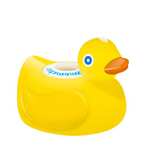 Mothermed Baby Bath Thermometer with Room Thermometer 2020 New Upgraded Rechargeable Baby Bath Thermometer to Baby Health Bath Tub Thermometer and Floating Bath Toy Yellow Duck Only for Fahrenheit