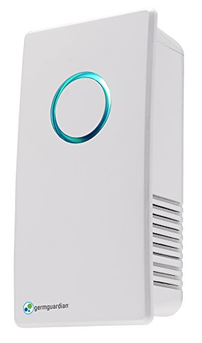 GermGuardian GG1100W Elite Pluggable UV-C Sanitizer and Deodorizer, Kills Germs, Freshens Air and Reduces Odors from Pets, Smoke, Mold, Cooking and Laundry