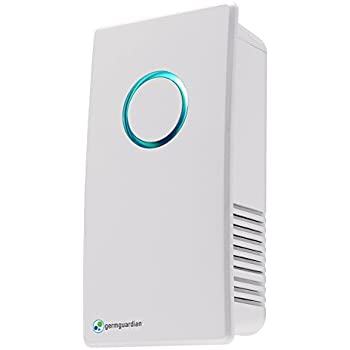 GermGuardian GG1100W Elite Pluggable UV-C Sanitizer and Deodorizer, Kills Germs, Freshens Air and Reduces Odors from Pets, Smoke, Mold, Cooking and Laundry, Germ Guardian Air Purifier