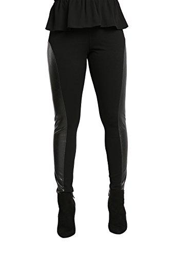 Real Designer Clothes (Poetic Justice Women's Curvy Fit Black Diamond Perforated Vegan Leather Moto Legging Size Medium)