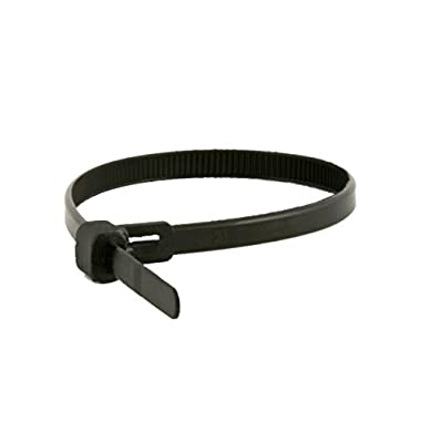Monoprice Releasable cable tie 6 inch 50LBS, 100pcs/Pack - Black