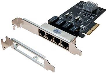 Tarjeta PCIe 4 x Switch 4 Puertos Gigabit + Perfil bajo ...
