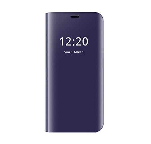 Galaxy Note 9 Clear View Flip Cover with Kickstand Full Protector Case (Samsung Galaxy Note 9, Purple)