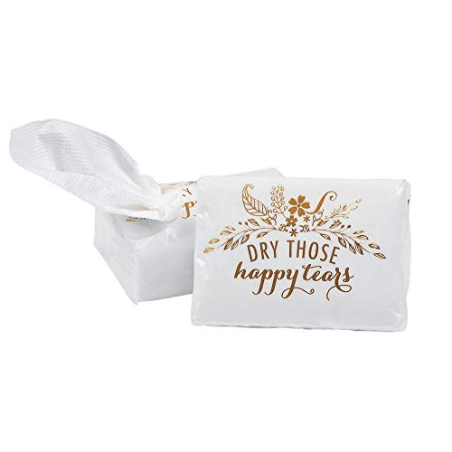 Wedding Happy Tears Tissue Favor Packs ~ Dry Those Happy Tears ~ 10 Pack