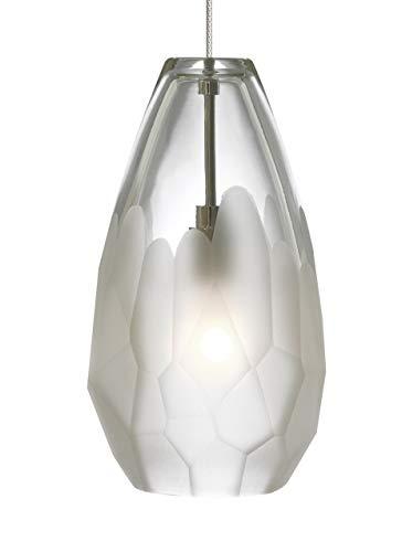 Tech Lighting 700FJBRLFS Briolette - One Light Freejack Pendant, Satin Nickel Finish with Frost Glass