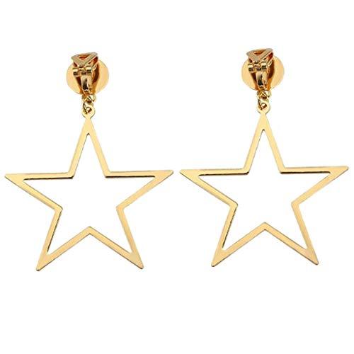 Fashion Clip on Earrings for Girls Women Pentagram