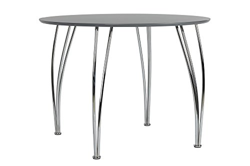 Novogratz Bentwood Round Dining Table With Chrome Plated