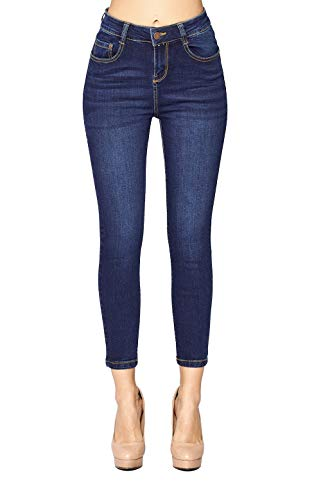 (ICONICC Women's High Rise Skinny Jeans Butt Lifting Denim (JP1094A_DK_3))