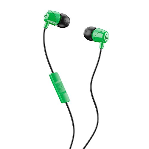 Skullcandy Jib in-Ear Noise-Isolating Earbuds with Microphone and Remote for Hands-Free Calls, Lightweight, Stereo Sound and Enhanced Base, Wired 3.5mm Jack, Green/Black