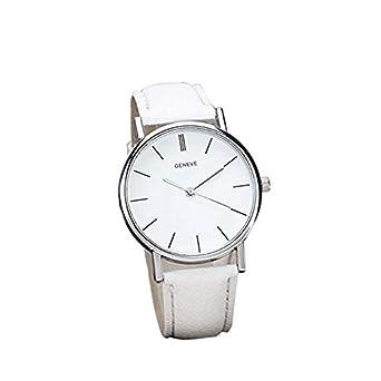 Reloj para Mujer, Moda Simple Diseño Retro clásico Relojes de Cuarzo analógicos Reloj para Mujer Reloj Redondo Reloj de Cuero de PU para Mujeres.