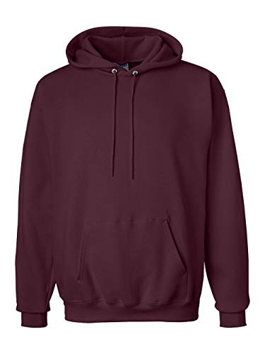 Ultimate Pullover Hooded Cotton (Hanes Adult Ultimate Cotton? Hooded Pullover - Maroon - M)