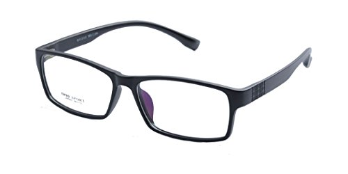 Deding Men Super Large Wide Oversized Full Frame Squaretr90 Glasses Frame Size 60-189-148mm (Matt - Wide Glasses Temple