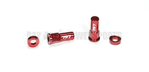 Red Rim Lock Spacer Nut Kit CR YZ KX RM CRF YZF KXF RMZ 85 125 250 450 Honda