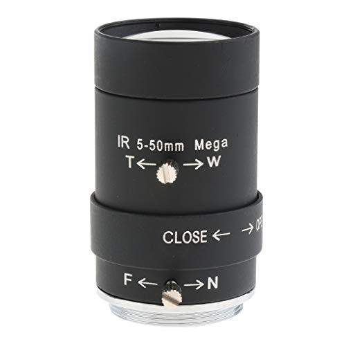 - Prettyia 5mm to 50mm 3MP f/1.6 Varifocal CS-Mount Manual IRIS Zoom Lens