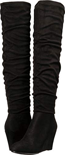 Chinese Laundry Women's UMA Over The Over The Knee Boot Black Suede 7.5 M US