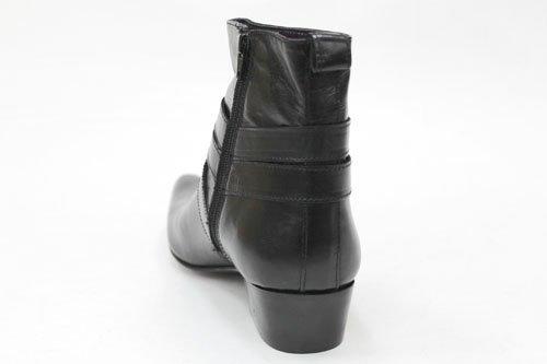 Gucinari G0397A - Bottines zippées hommes - talon cubain - cuir