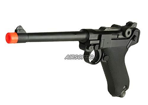 WE P-08 Medium Version Gas Blowback Full Metal - Black