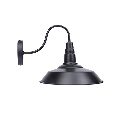 Lightess Black Wall Sconce Light with Industrial Vintage Met