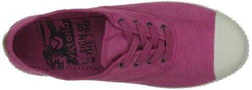Puntera Chaussures femme lacets Fucsia Inglesa Rose Tintada à Victoria tqxEOw6n
