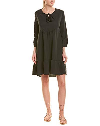 Johnny Was Womens Linen-Blend Shift Dress, M, Black (Linen Shift Dress)