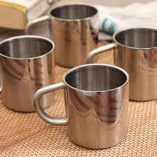 Hot Muggs Swirls n Twirls Stainless Steel Mug 200 ml, Set of 4