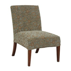 Bailey Street 6081282 Michelle - Slipper Chair Cover, Natural Walnut Finish with Verde Green Fabric Shade (Slipper Chair Covers compare prices)
