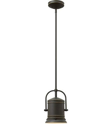 Mini Pendants 1 Light with Oil Rubbed Bronze Steel Drum Medium Base 7 inch 100 Watts