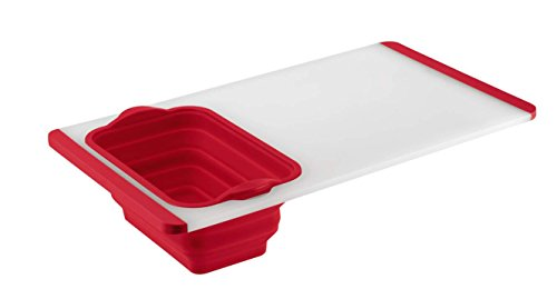 R Cutting Board with Colander - Red ()