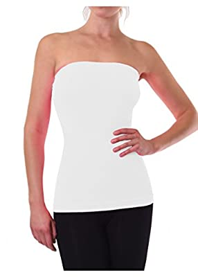 Womens Tube Top Strapless Seamless Bandeau