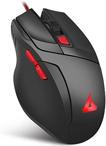 GTRACING Gaming Mouse Wired 7200 Dpi 6 Key Programmable Gamer Ergonomic USB Computer Mice Led Breathing Light Gamer Desktop Laptop Pc Gaming Mouse with Macro Recording for Windows,Mac,Pc Mice Gt790
