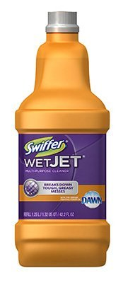 Swiffer WetJet System Cleaning-Solution Refill, Wood Cleaner, 1. 25L Btl, Citrus, 6/CT
