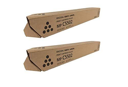 841751 Genuine Ricoh Toner Cartridge 2 Pack, 841679, 31000 Page-Yield Per Ctg, Black