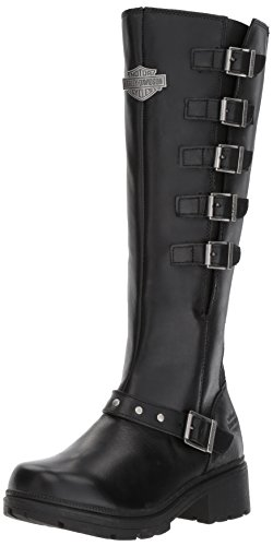 Harley-Davidson Women's Glassford Work Boot, Black, 10 M US by Harley-Davidson